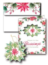 Blessings Christmas Cards With 3D Ornament, Box of 8