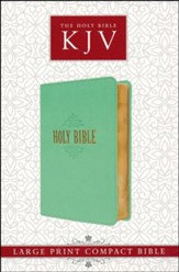 KJV Compact Large Print Lux-Leather Teal