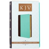 KJV Giant Print Lux-Leather Teal/Brown