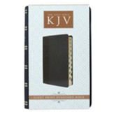 KJV Giant Print Lux-Leather 2-Tone Black, Thumb Indexed