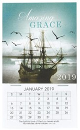 2019 Amazing Grace, Mini Magnetic Calendar