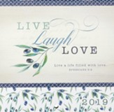2019 Live Laugh Love Mini Wall Calendar