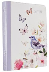 2019 Daily Planner for Women, Lux Leather, Floral