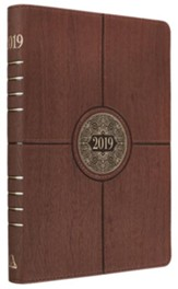 2019 I Can Do All Things, Executive Planner, Lux Leather, Brown with Zipper Closure