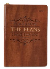 2019 For I Know the Plans Executive Planner, Lux Leather, Brown
