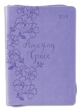 2019 Amazing Grace, Executive Planner Leather, Purple
