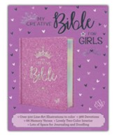 ESV My Creative Bible for Girls, Hardcover, Purple Glitter