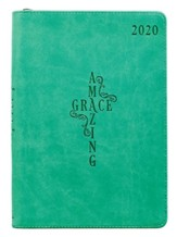 2020 Amazing Grace Executive Planner, Teal with Zipper Closure