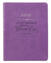 2020 In His Presence Purple Daily Planner, Purple