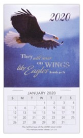 2020 They Will Soar On Wings Like Eagles Mini Magnetic Calendars