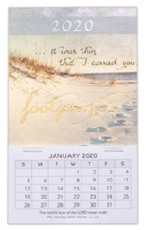 2020 Footprints Mini Magnetic Calendar