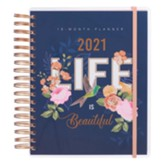 2021 Life Is Beautiful Spiral-bound Planner for Women