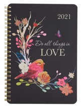 2021 All Things in Love Wire-bound Planner