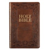 KJV Gift Edition Bible--imitation leather, brown - Imperfectly Imprinted Bibles