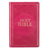 KJV Gift Edition Bible--imitation leather, pink - Imperfectly Imprinted Bibles