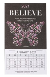 2021 Believe Mini Magnetic Calendar