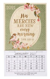 2021 His Mercies Mini Magnetic Calendar