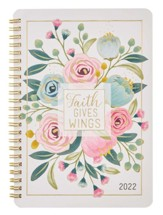 Faith Gives Wings Wirebound Daily Planner, 2022