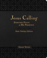 Jesus Calling Note-Taking Edition--soft leather-look, black
