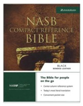 NAS Compact Reference Bible, Bonded leather, Black