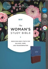 NIV The Woman's Study Bible, Imitation Leather, Blue and Brown, Full-Color