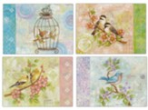 Pretty Birds Thank You Cards, Box of 12