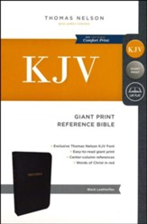 KJV Reference Bible, Giant Print, Leather-Look Black