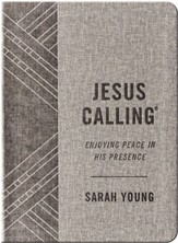 Jesus Calling Gift Edition--soft leather-look, gray