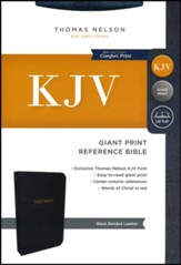 KJV Comfort Print Reference Bible, Giant Print, Bonded Leather, Black