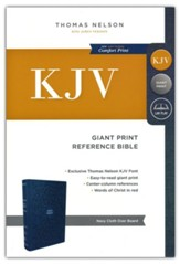 KJV Reference Bible, Giant Print, Blue, Hardcover
