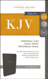 KJV Personal Size Reference Bible Giant Print, Bonded Leather, Black