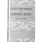 God's Promises for Graduates: Class of 2020 - Silver Camouflage NIV