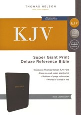 KJV Deluxe Reference Bible Super Giant Print, Black  - Slightly Imperfect