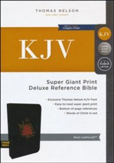 KJV Deluxe Reference Bible Super Giant Print, Black  TPdexed