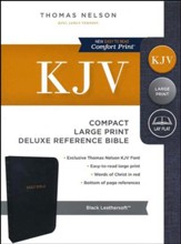 KJV Deluxe Compact Reference Bible, Large Print,  Leather-Look, Black