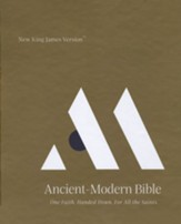 NKJV Comfort Print Ancient-Modern Bible, Imitation Leather, Brown
