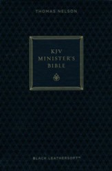KJV Minister's Bible--imitation leather, black (red letter edition)