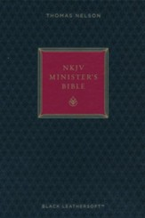 NKJV Minister's Bible--imitation leather, black (red letter edition)
