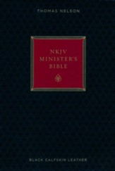 NKJV Minister's Bible--genuine leather, black (red letter edition)