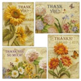 French and Flowers Thank You Cards, Box of 12