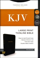 KJV Comfort Series Thinline Bible Large Print Leather Look Black Indexed