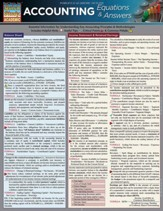 Accounting Equations & Answers,  Laminated Guide
