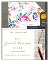 KJV Comfort Print Journal the Word Bible, Cloth over Board, Pink Floral