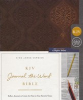 KJV Comfort Print Journal the Word Bible, Imitation Leather, Brown - Slightly Imperfect