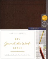 KJV Comfort Print Journal the Word  Bible, Bonded Leather, Brown
