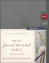 NKJV Comfort Print Journal the Word Bible, Hardcover, Gray