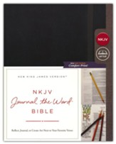 NKJV Comfort Print Journal the Word  Bible, Hardcover, Black