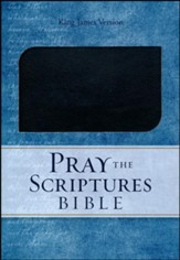 KJV Pray the Scriptures Bible, Duravella, black