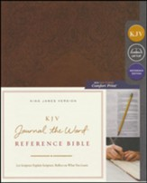 KJV Comfort Print Journal the Word  Reference Bible, Imitation Leather, Brown