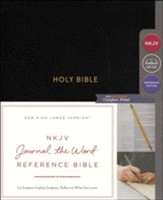 NKJV Comfort Print Journal the Word Reference Bible, Hardcover, Black